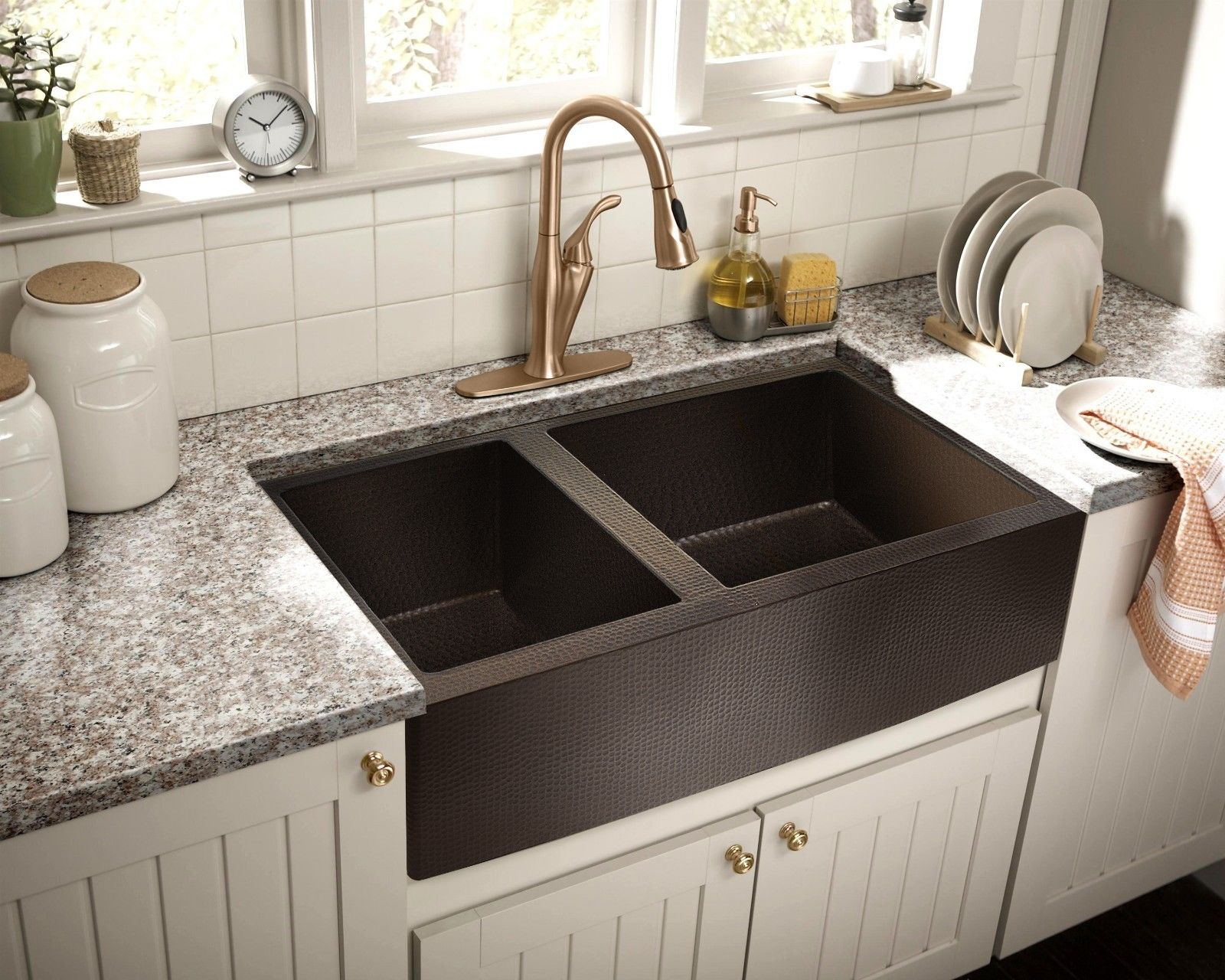 Picture of: Hammered Copper Apron Farmhouse Kitchen Sink 33 X22 60 40 No Custom Duties 813584013676 Ebay