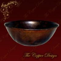 Copper Oval Vessel Sink